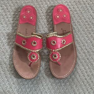 Jack Rogers Original Women's Pink and Gold Jacks